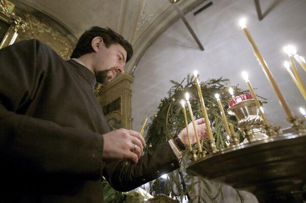 Рождественское богослужение в храме священномученика Климента, папы Римского