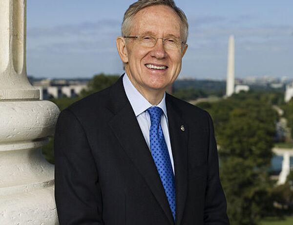 Лидер демократического большинства сената конгресса США Гарри Рид