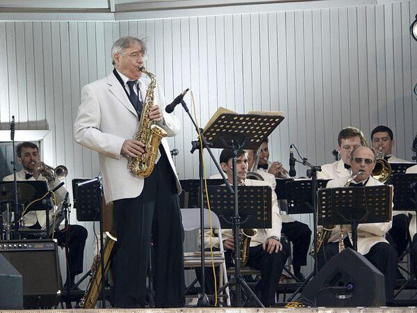 Выступление Георгия Гараняна на джазовом фестивале в Москве. Архив