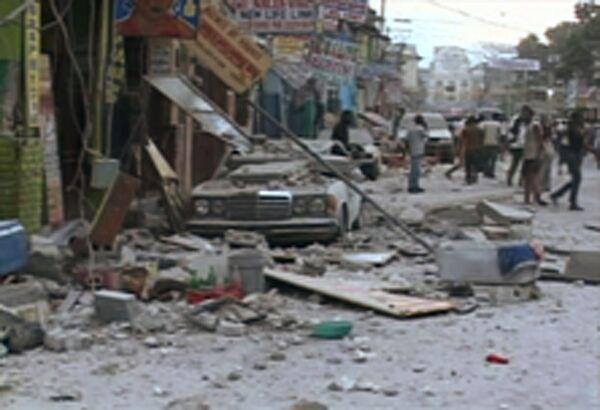 Последствия землетрясения у берегов Гаити