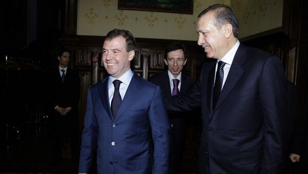Президент РФ Д.Медведев принял премьер-министра Турции Реджепа Тайипа Эрдогана в подмосковной резиденции