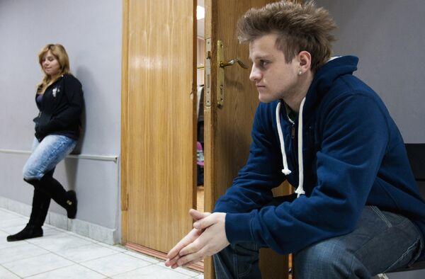 Игорь Огурцов на съемочной площадке телесериала Школа режиссера Валерии Гай Германики