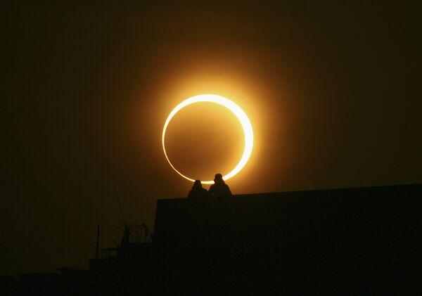 Солнечное затмение в Китае