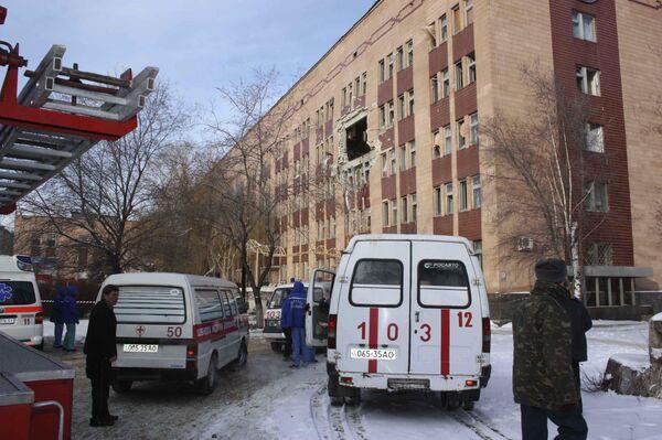 Взрыв в больнице Луганска