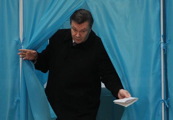 Кандидат в президенты Украины, лидер Партии регионов Виктор Янукович