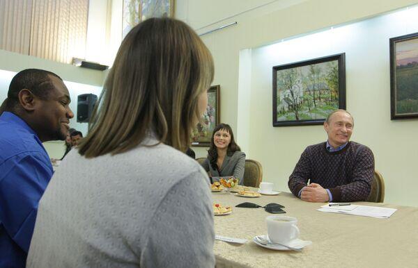 В.Путин прибыл с рабочей поездкой в Чебоксары