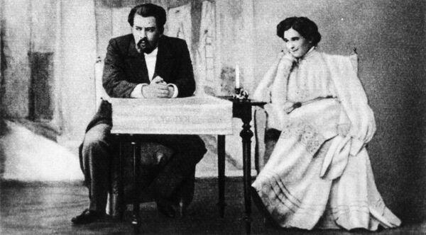 Константин Станиславский и Ольга Книппер в спектакле Дядя Ваня