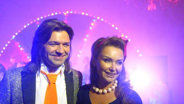 Певец Дмитрий Маликов с супругой Еленой, архивное фото