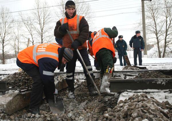 Взрыв на железной дороге в Санкт-Петербурге