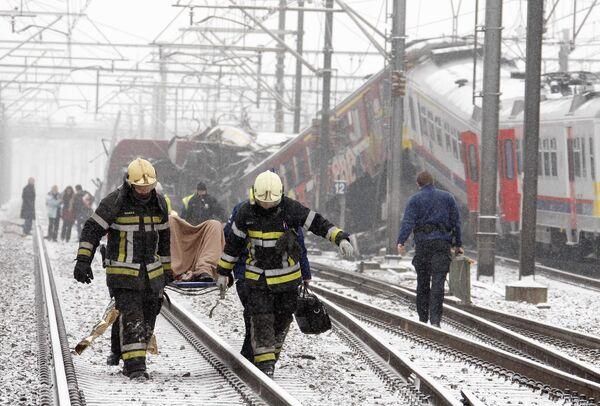 Столкновение поездов под Брюсселем