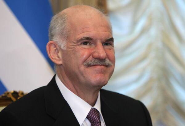 Премьер-министр Греции Георгиос Папандреу. Архив