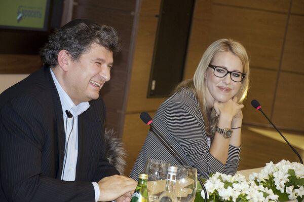 Пресс-конференции Ксении Собчак и Александра Малиса