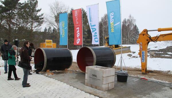 Закладка первого камня в строительство газопровода Opal в Любмине.Архивное фото