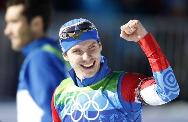 Российский биатлонист Евгений Устюгов одержал победу в гонке с масс-старта