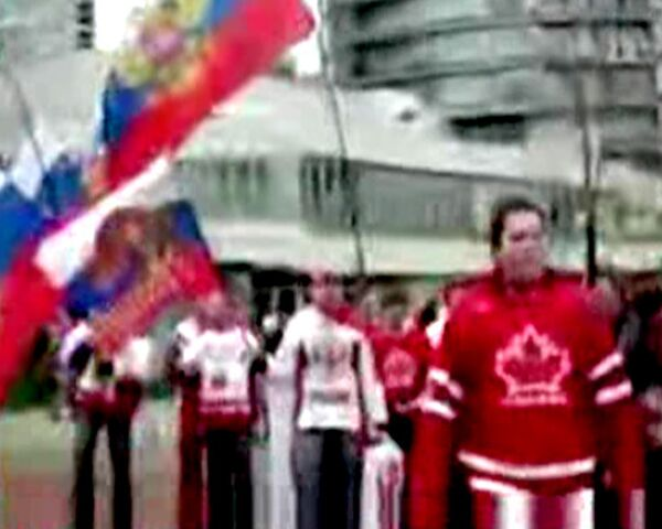 Хоккейные болельщики перед матчем Россия-Канада. Видео блогера