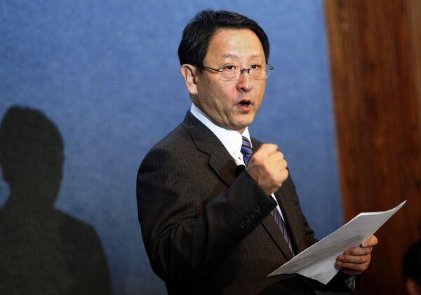 Президент Toyota Motor Corp Акио Тойода в Вашингтоне