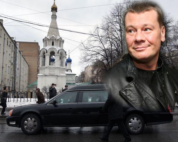Прощание с Владиславом Галкиным в церкви у Никитских ворот