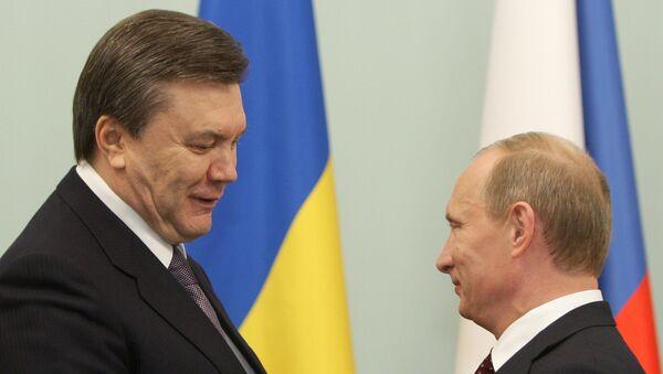 Владимир Путин и Виктор Янукович. Архив