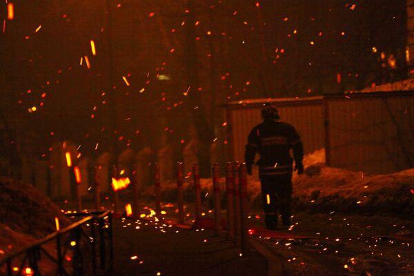 Пожар в московском ночном клубе Опера
