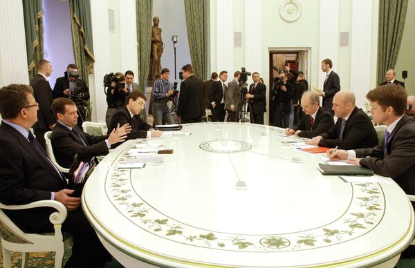 Президент РФ Д.Медведев принял премьер Швеции Ф.Рейнфельдта. Архив
