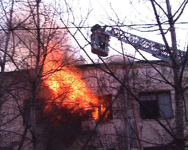 Пожар в административном здании Москвы. Видео с места ЧП