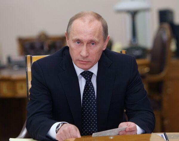 Премьер-министр РФ Владимир Путин. Архив.
