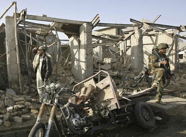 На месте теракта в Кандагаре
