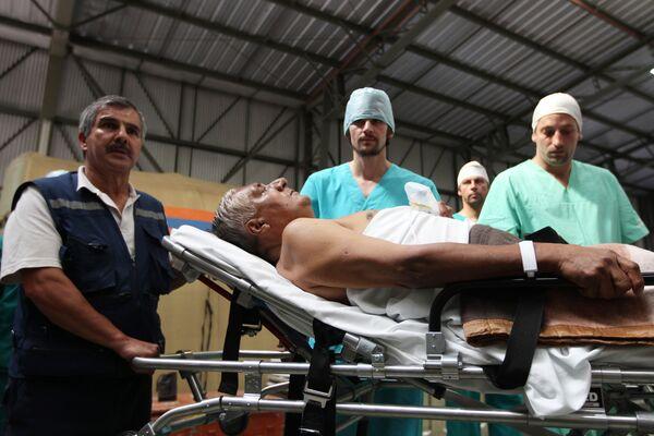 Работа аэромобильного госпиталя МЧС РФ в Чили