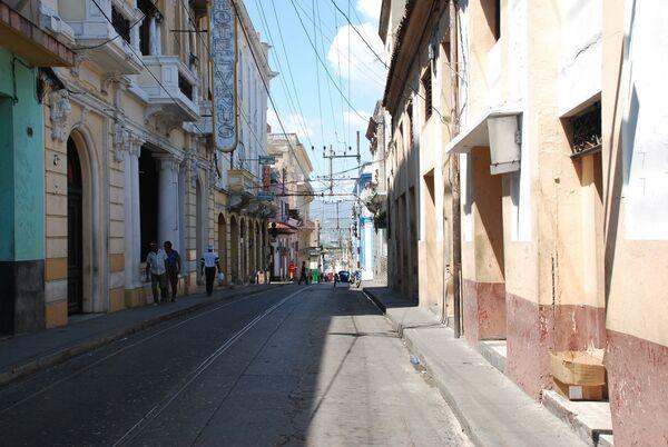 Город Сантьяго-де-Куба на востоке Кубы