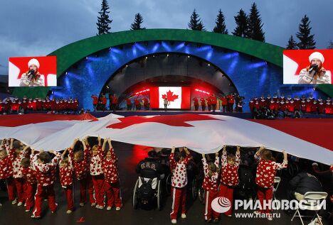 Церемония закрытия X Зимних Паралимпийских игр