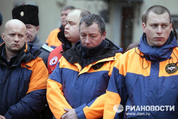 Прощание с начальником службы пожаротушения Москвы Евгением Чернышовым