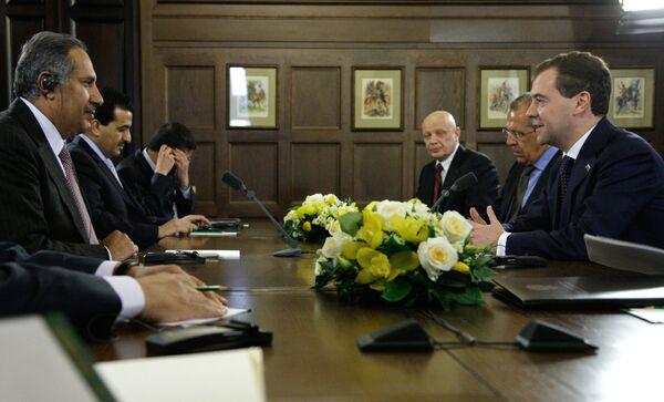 Встреча Дмитрия Медведева с Хамадом бен Джасемом Аль-Тани