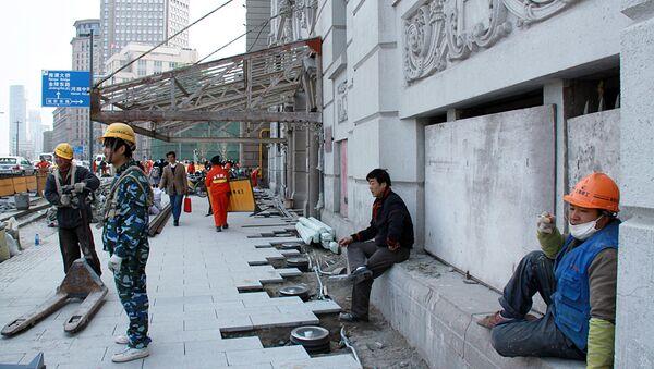 Строительство в Шанхае, архивное фото