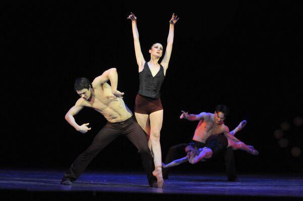 Сцена из спектакля Бессмертие в любви. Театр оперы и балета, Новосибирск