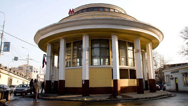 Станция метро Парк культуры на следующий день после взрыва
