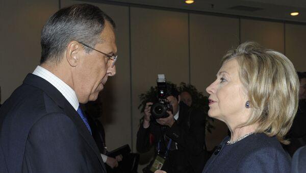 Сергей Лавров и Хиллари Клинтон. Архивное фото
