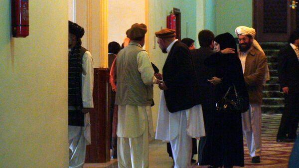 Внутри здания афганского парламента