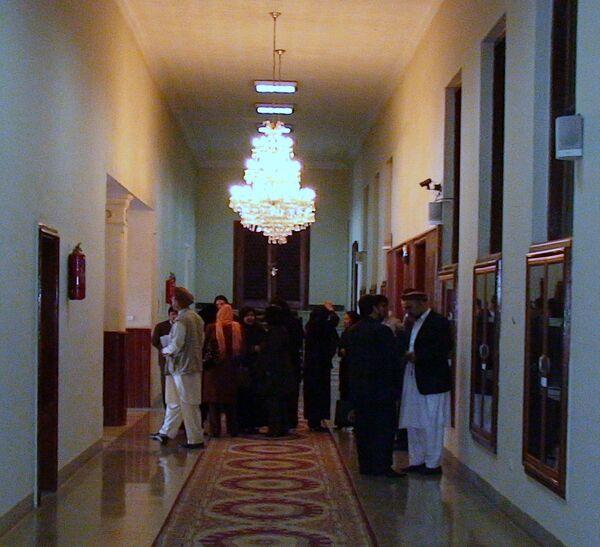 Внутри здания афганского парламента. Архив