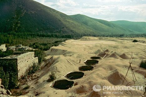 Лагерь Бутугычаг на Колыме - обогатительная фабрика урановой руды