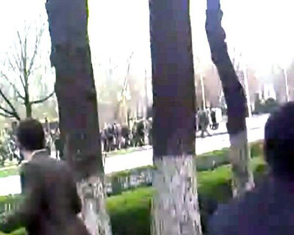 Стрельба в Бишкеке. Видео очевидца