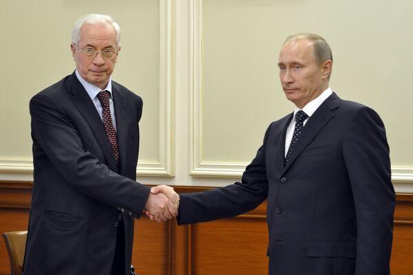 Встреча премьер-министров России и Украины