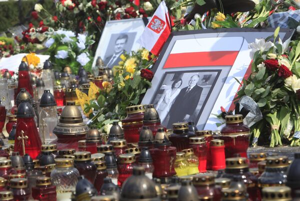 Портрет президента Польши Леха Качиньского с супругой Марией