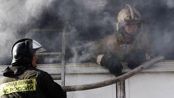 Тушение пожара в Москве. Архив