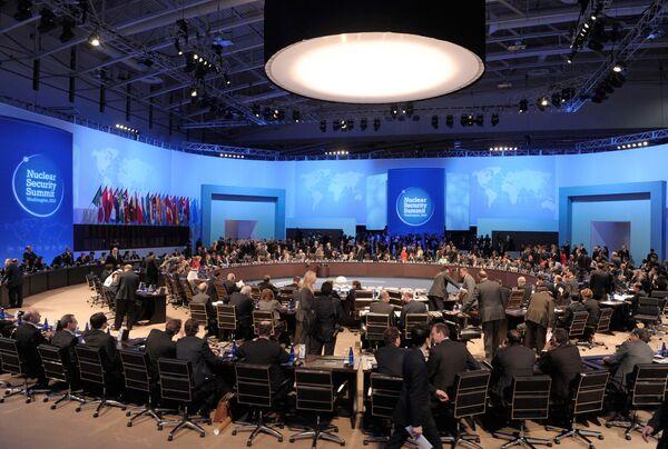 Рабочее заседание саммита в Вашингтоне по вопросам ядерной безопасности