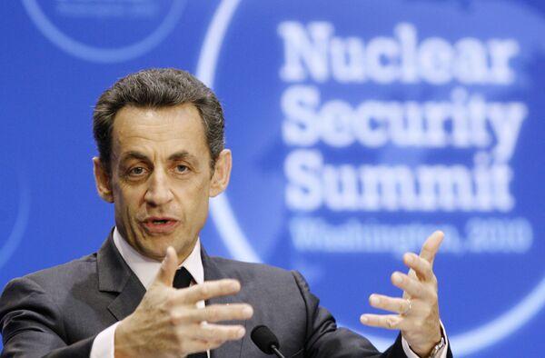 Николя Саркози на саммите по вопросам ядерной безопасности в Вашингтоне