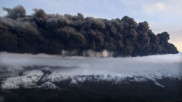 Извержение вулкана в Исландии