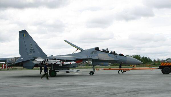 Выкатка самолета Су-30МКМ, изготовленного по заказу ВВС Малайзии. Архивное фото