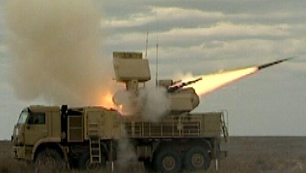 Зенитный комплекс Панцирь-С отразил атаку крылатой ракеты