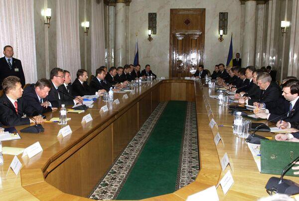 Встреча Дмитрия Медведева и Виктора Януковича с руководителями приграничных регионов России и Украины