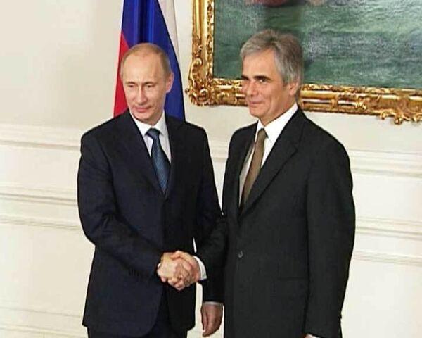 Владимир Путин прибыл в Вену для обсуждения проекта Южный поток